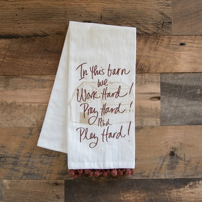 """In This Barn"" Flour Sack Towel"