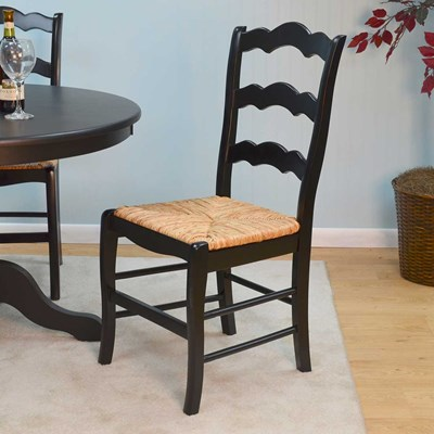 French Country Rush Seat Ladderback Dining Chair