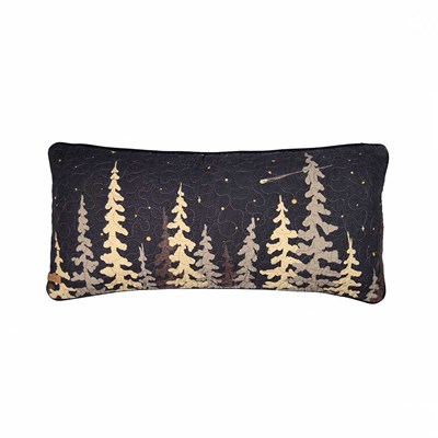 Moonlit Cabin Rectangle Decorative Pillow by Donna Sharp