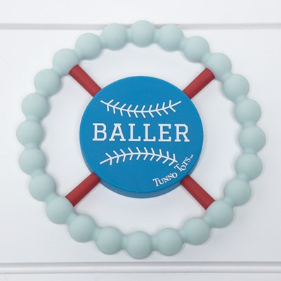 Baseball Silicone Teether