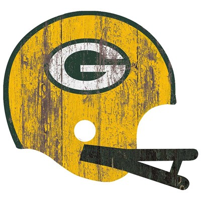 Green Bay Packers - Distressed Helmet
