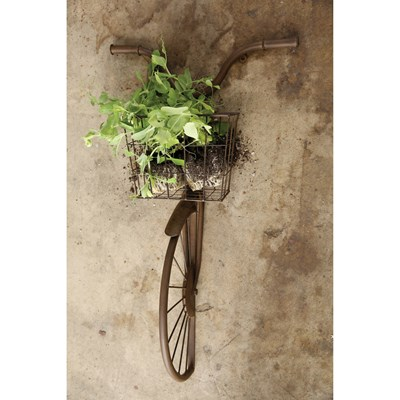 Iron Bike Shaped Wall Basket