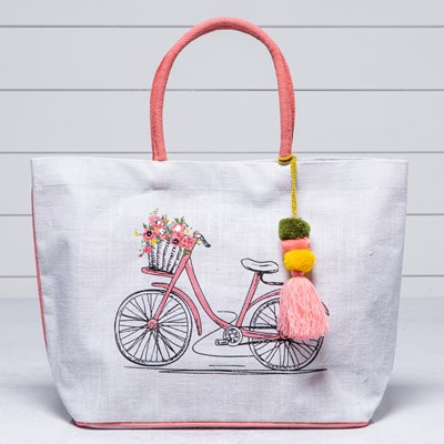 Bike with Flowers Tote