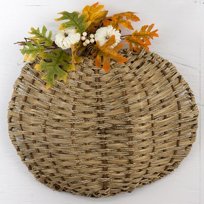Woven Pumpkin Wall Decor