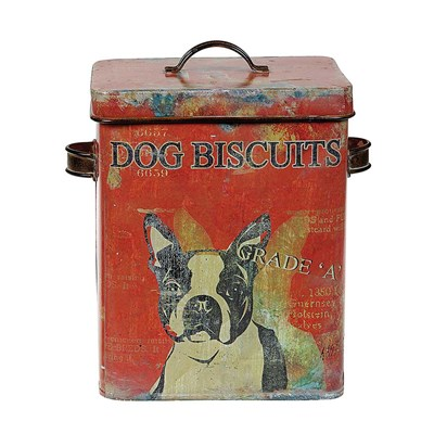 "Tin Container ""Dog Biscuits"""