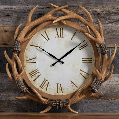 Resin Antler Wall Clock