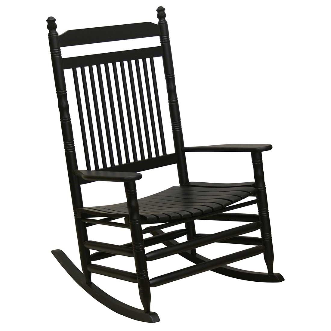 Wondrous Jumbo Slat Rocking Chair Black Short Links Chair Design For Home Short Linksinfo