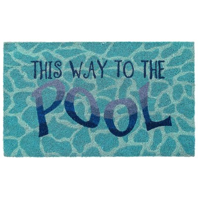 This Way To The Pool Doormat
