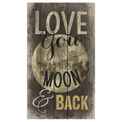 """Love You to the Moon and Back"" Pallet Wall Decor"