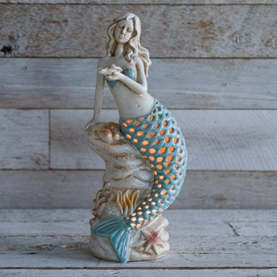 Ceramic Mermaid Accent Light
