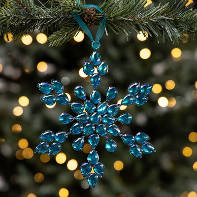 Iridescent Jeweled Snowflake Ornament