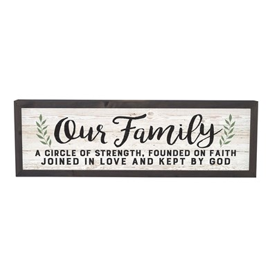 """Our Family"" Framed Sign"