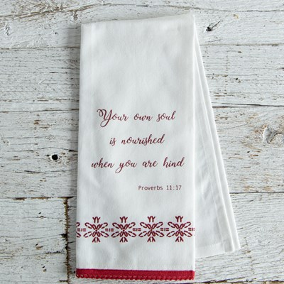 Oh Gussie! Proverbs 11:17 Kitchen Towel