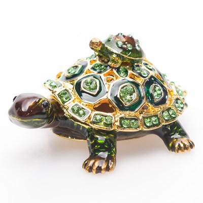 Decorative Turtle With Baby Box