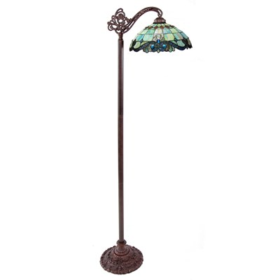 Tiffany Style Stained Glass Side Arm Floor Lamp