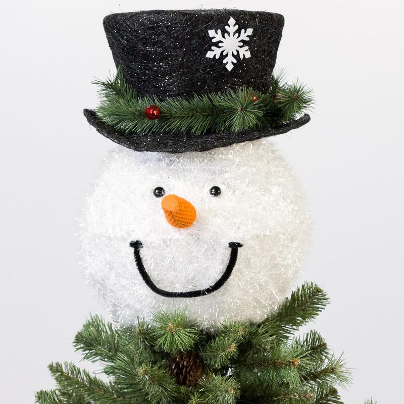 Snowman Head Tree Topper 0