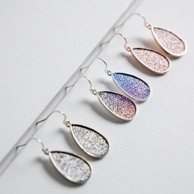 3-piece Glitter Paper Earring Set