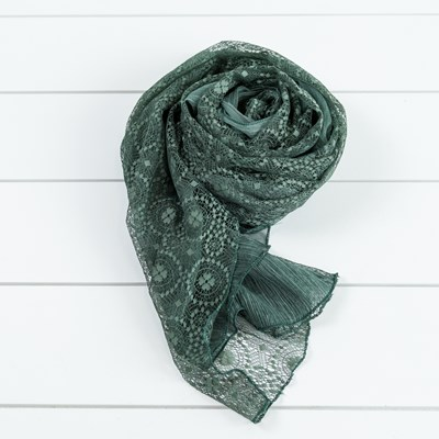 Green Mixed Media Scarf