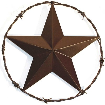 "14"" Star Barbed Wire Ring Indoor/Outdoor Decor"