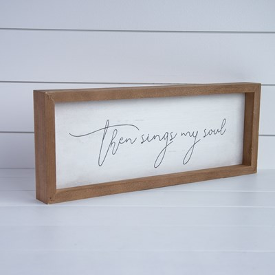 """The Sings My Soul"" Framed Wall Decor"