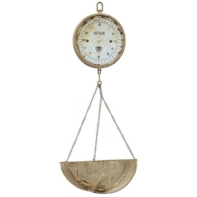 Metal Hanging Produce Scale Clock