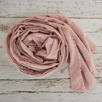 Women's Metallic Super Soft Floral Scarf