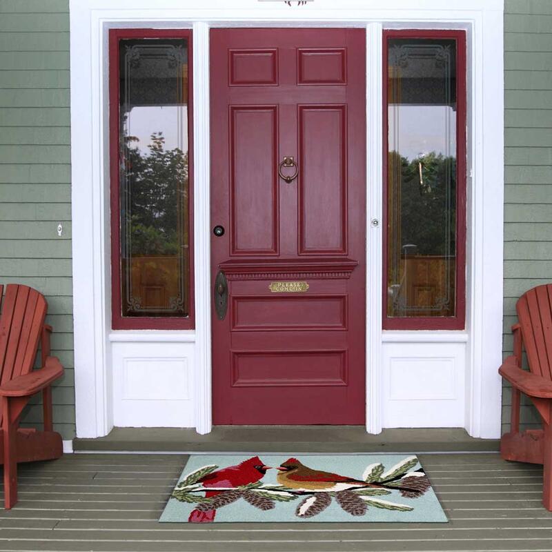 Frontporch Cardinals Indoor Outdoor Rug 1