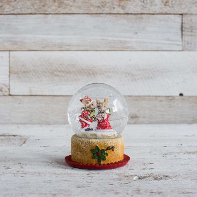 Christmas Mice Snow Globe