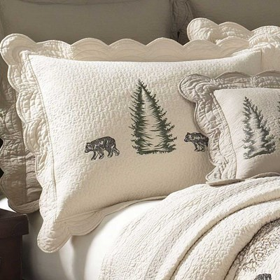 Bear Creek Quilted King Sham by Donna Sharp