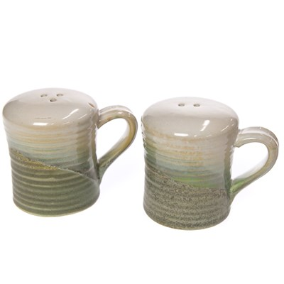 Oh Gussie! Stoneware Salt and Pepper Shaker Set with Handles