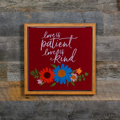 """Love is Patient"" Framed Wall Decor"