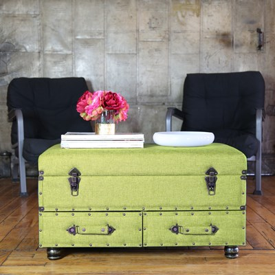 Linen Storage Trunk - Green