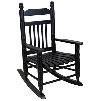 Slat Child Rocking Chair - Black