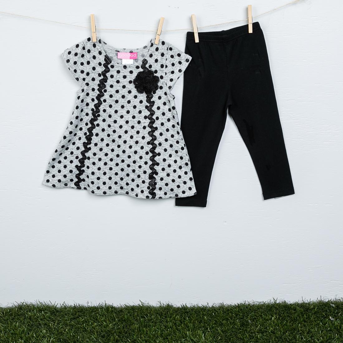 Black and Gray Polka Dot Legging Set & Kids Infants Toddlers | Clothing Accessories - Cracker Barrel Old ...