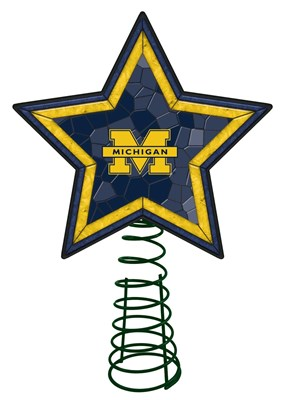 Michigan Mosaic Tree Topper