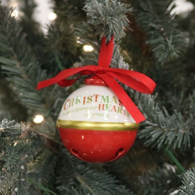 Red Ceramic Bell Ornament