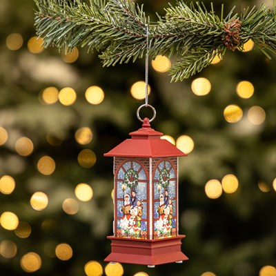Light-Up Lantern Ornament - Carolers