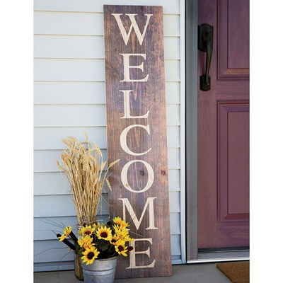 """Welcome"" Leaner Sign"