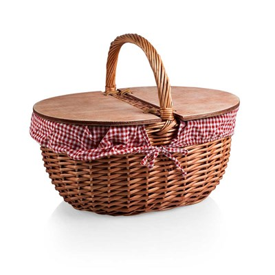 Country Gingham Picnic Basket