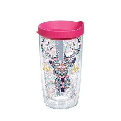 """Love Deerly Mandala"" 16 Oz. Tumbler"