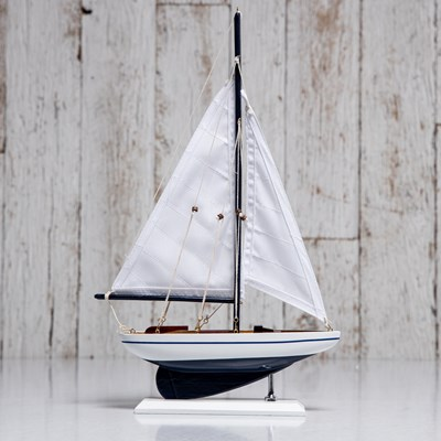 Decorative Wooden Sail Boat