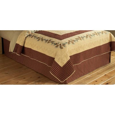 Pine Lodge Plaid Bed Skirt by Donna Sharp - Queen