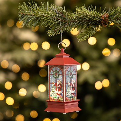 Light-Up Lantern Ornament - Santa