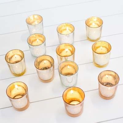 Glass Votives - Set of 12