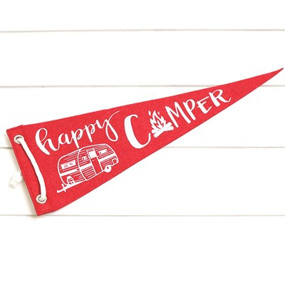 Happy Camper Felt Pennant