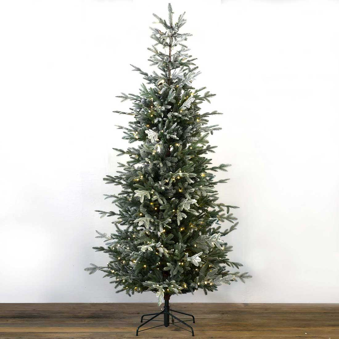 8 ft. Pre-Lit Quick-Connect Glittered Spruce Tree