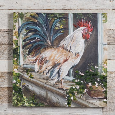 French Country Rooster Canvas