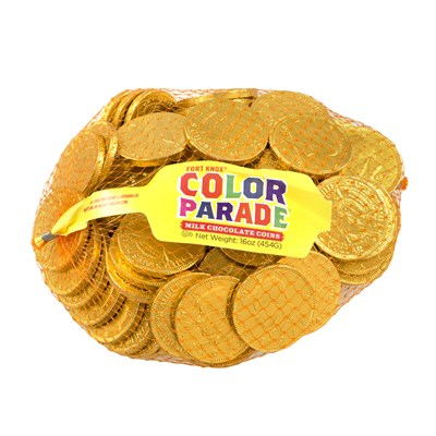 Fort Knox Milk Chocolate Coins Gold Foil - 1lb.