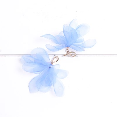 Fabric Flower Earring