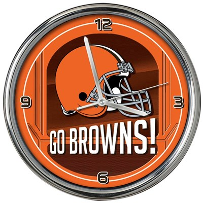Cleveland Browns Chrome Wall Clock